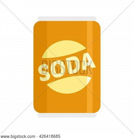 Diet Soda Tin Can Icon. Flat Illustration Of Diet Soda Tin Can Vector Icon Isolated On White Backgro