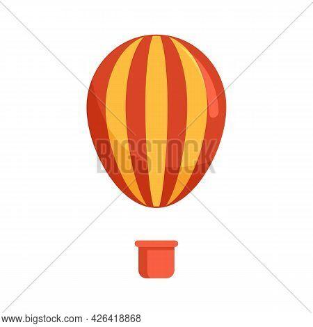 Circus Air Balloon Icon. Flat Illustration Of Circus Air Balloon Vector Icon Isolated On White Backg
