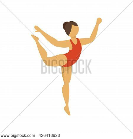 Circus Gymnast Icon. Flat Illustration Of Circus Gymnast Vector Icon Isolated On White Background