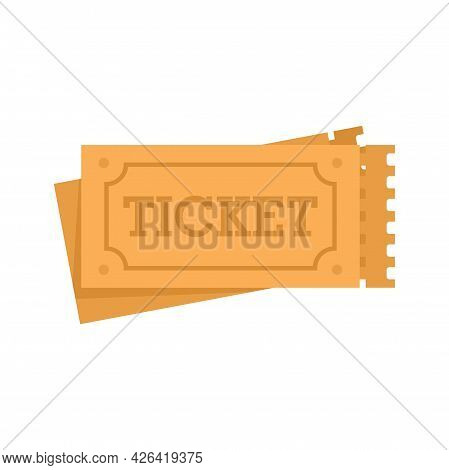 Circus Tickets Icon. Flat Illustration Of Circus Tickets Vector Icon Isolated On White Background
