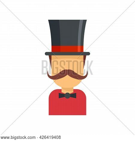 Magician Icon. Flat Illustration Of Magician Vector Icon Isolated On White Background