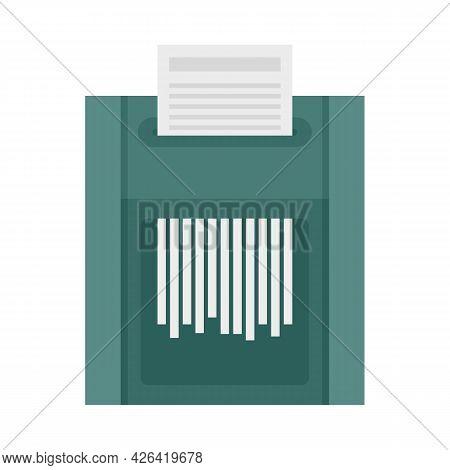 Office Shredder Icon. Flat Illustration Of Office Shredder Vector Icon Isolated On White Background