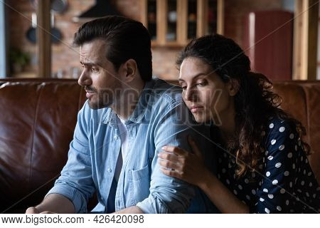 Wife Expressing Empathy And Compassion To Sad Frustrated Husband