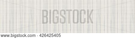 Burlap Texture Ribbon Border Vector Seamless Border. Canvas Textured Banner Natural Beige Ecru Plaid