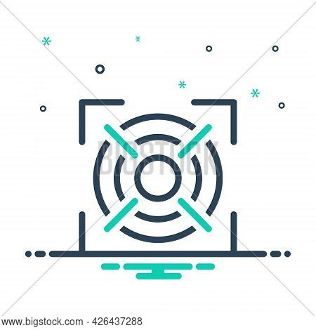 Mix Icon For Target Goal Aim Strategy Dartboard Focus