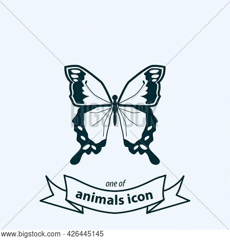 Butterfly Sign. Butterfly Isolated Simple Vector Icon