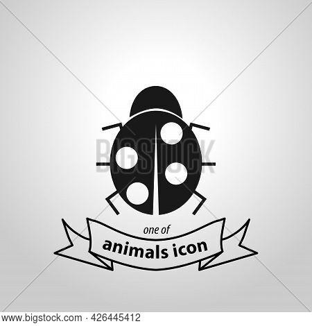 Ladybug Sign. Ladybug Isolated Simple Vector Icon