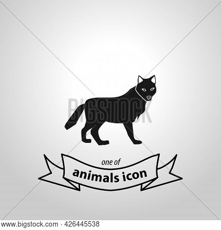 Wolf Sign. Wolf Isolated Simple Vector Icon