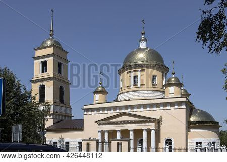 Kashira, Russia - 21 June 2021, The Main City Temple Of Kashira Is The Cathedral Of The Assumption O