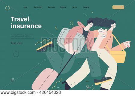 Travel Insurance - Medical Insurance Illustration. Modern Flat Vector