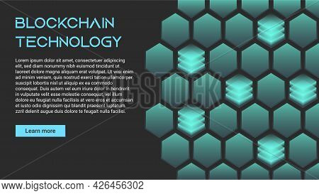 Blockchain Technology Concept, Cryptocurrency. Working With Tokens On The Internet, Security. Futuri