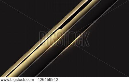 Abstract Gold Black Cyber Line Slash On Dark Grey Design Modern Futuristic Background Vector Illustr