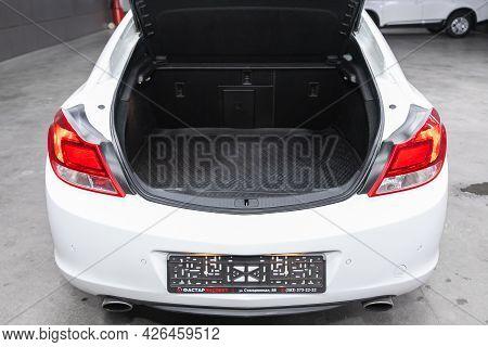 Novosibirsk, Russia - June 29, 2021: Opel Insignia, Big Trunk Open In A  Car.