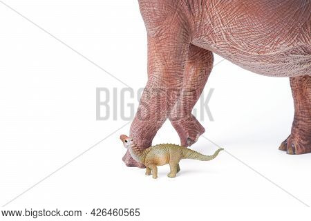 Giraffatitan Brachiosaurus Is A Herbivore Genus With A Long Neck And A Large Body Dinosaur. The Dino