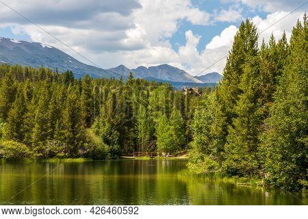 Scenic View Of Sawmill Reservoir Near Breckenridge, Colorado