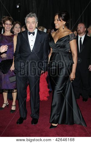 LOS ANGELES - FEB 24:  Robert DeNiro, Grace Hightower arrive at the 85th Academy Awards presenting the Oscars at the Dolby Theater on February 24, 2013 in Los Angeles, CA
