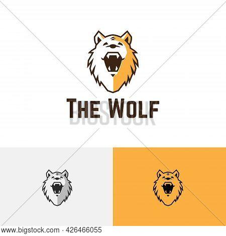 Cute Wolf Head Wild Wildlife Predator Logo