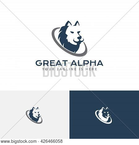 Great Strong Alpha Wolf Head Leader Business Logo