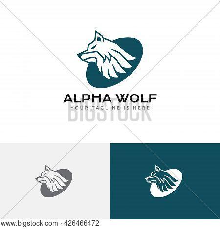 Strong Leader Alpha Wolf Head Wild Wildlife Logo