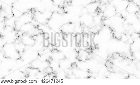 White Marble Texture Background. Abstract Backdrop Of Marble Granite Stone. Vector Illustration