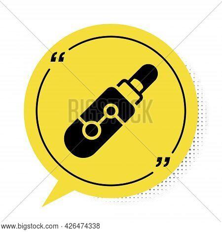 Black Electronic Cigarette Icon Isolated On White Background. Vape Smoking Tool. Vaporizer Device. Y