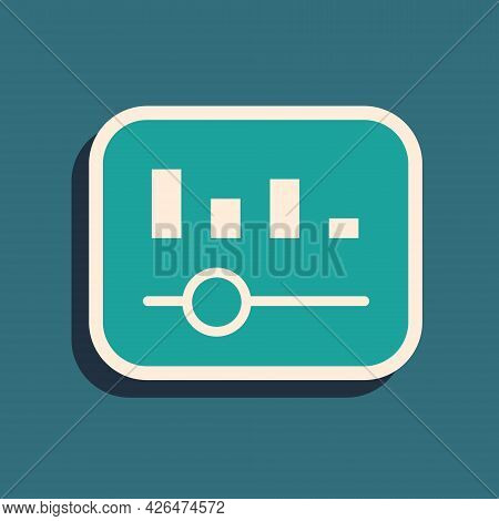 Green Music Equalizer Icon Isolated On Green Background. Sound Wave. Audio Digital Equalizer Technol