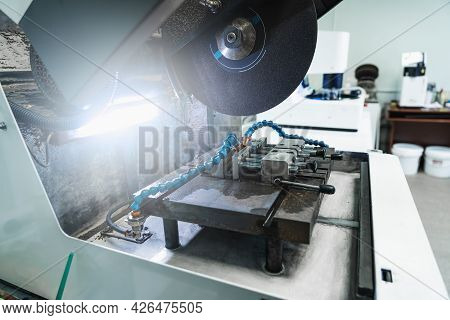 Laboratory Test Equipment For Testing Metal And Iron Samples In Metallurgical Plant Lab.