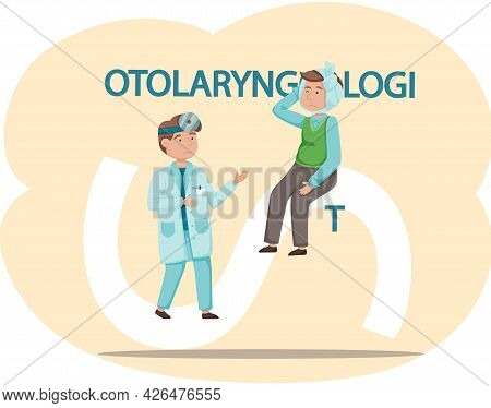 Health Care, Medical Examination, Patient At Doctor S Appointment. Otolaryngologist S Office. Woman