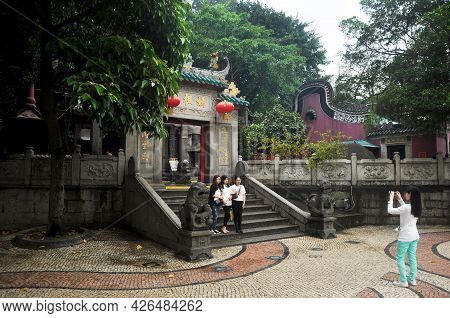 A Ma Temple Antique Chinese Shrine For Macanese People Foreign Travelers Travel Visit Respect Prayin