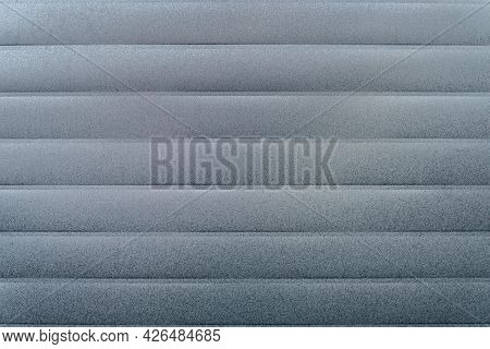 Abstract Background. Mold And Mildew On Siding. Surface Silver Color Molded Board As A Texture Close