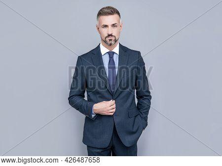 Charismatic Businessman Man In Businesslike Suit, Charisma