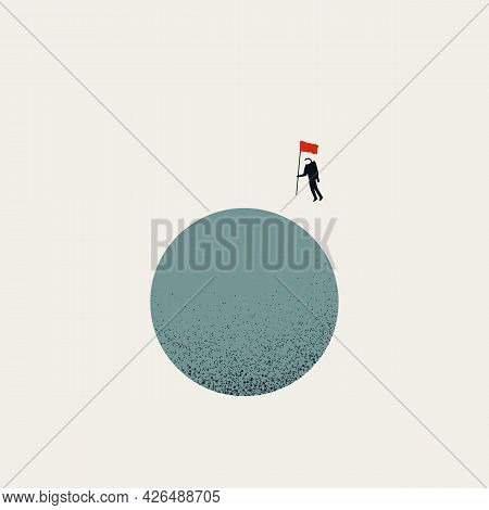 Business Goal Vector Concept. Symbol Of Objective, Target, Ambition And Motivation. Minimal Illustra