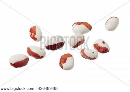 Red Legumes On A White Background. Hearty Vegetarian Food.