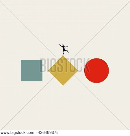 Business Process Transformation Vector Concept. Symbol Of New Technology, Workflow, Practice. Minima