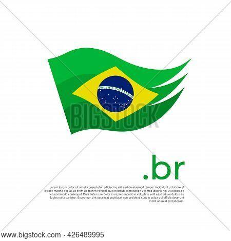 Brazil Flag. Stripes Colors Of The Brazilian Flag On A White Background. Vector Design National Post