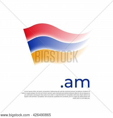 Armenia Flag. Stripes Colors Of The Armenian Flag On A White Background. Vector Design National Post
