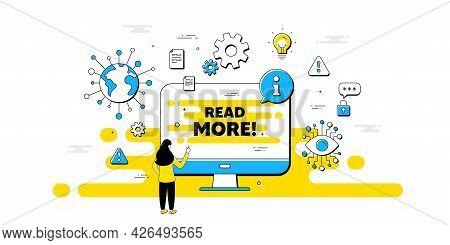 Read More Text. Internet Safe Data Infographics. Navigation Sign. Get Description Info Symbol. Read