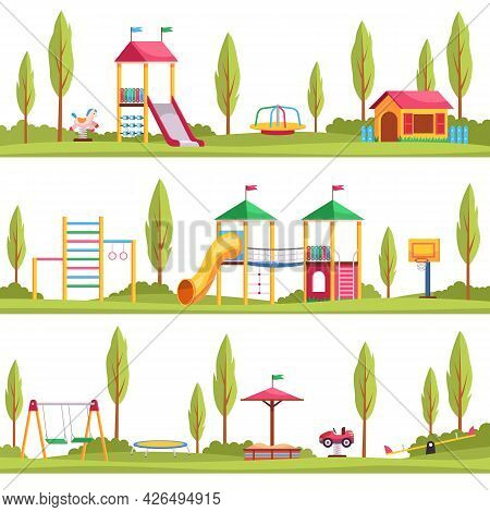 Kids Playgrounds. Children Outdoor Entertainment Devices. Multiple Location Options. Playing Area Wi