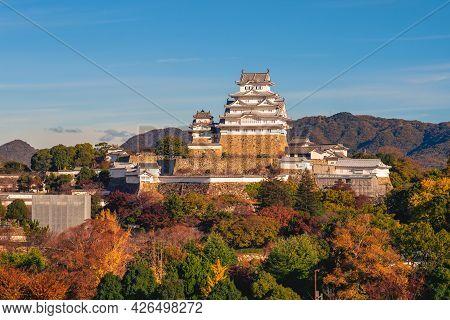 Himeji Castle, Aka White Egret Castle Or White Heron Castle, In Hyogo, Japan