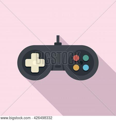 Game Joystick Icon Flat Vector. Gamepad Control. Computer Gamer Joystick