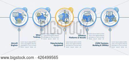Digital Twin Application Vector Infographic Template. Engines Presentation Outline Design Elements.