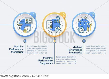 Digital Twin Tasks Vector Infographic Template. Machine Performance Presentation Outline Design Elem