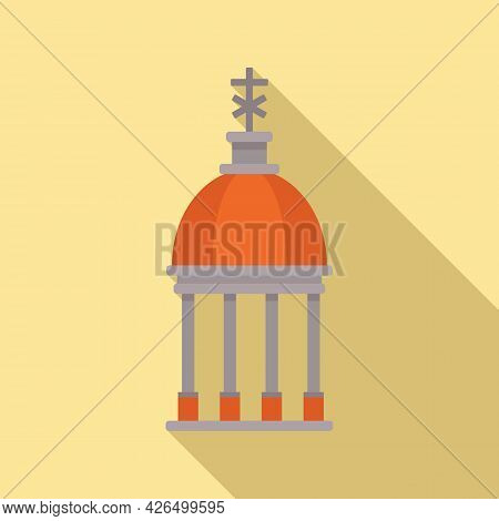 Cupola Icon Flat Vector. Dome Russian. Protect Cupola