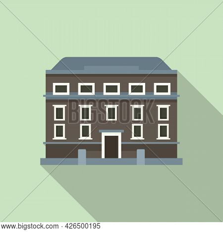 Dublin House Icon Flat Vector. Ireland Skyline. City Architecture House