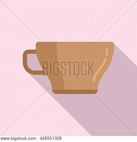 Coffee Cup Icon Flat Vector. Hot Cafe Mug. Morning Espresso