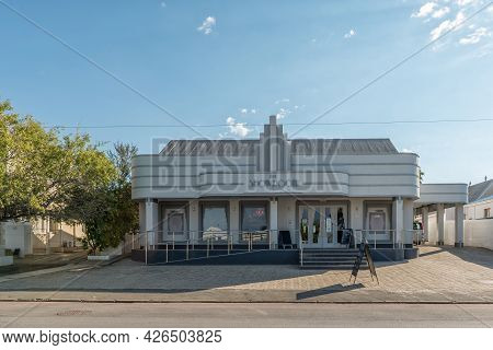 Prince Albert, South Africa - April 20, 2021: A Street Scene, With The Showroom Theatre, In Prince A