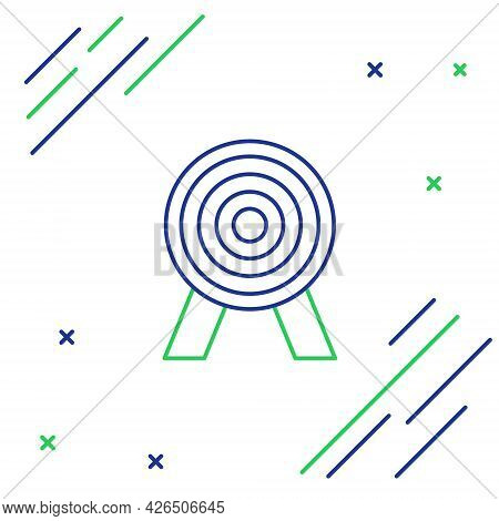 Line Target Icon Isolated On White Background. Dart Board Sign. Archery Board Icon. Dartboard Sign.