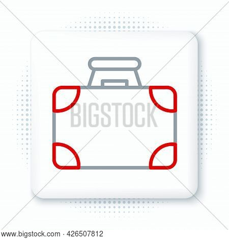 Line Briefcase And Money Icon Isolated On White Background. Business Case Sign. Business Portfolio.