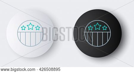 Line Medal With Star Icon Isolated On Grey Background. Winner Achievement Sign. Award Medal. Colorfu