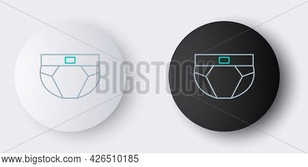 Line Men Underpants Icon Isolated On Grey Background. Man Underwear. Colorful Outline Concept. Vecto